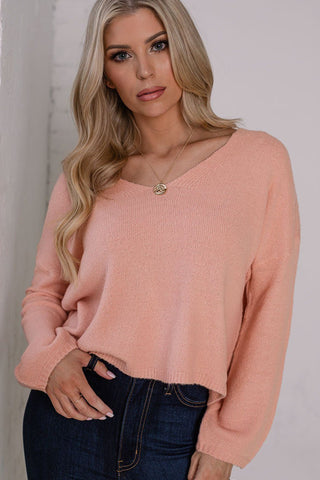 Hugs & Kisses Fuzzy Blush Off The Shoulder Crop Top