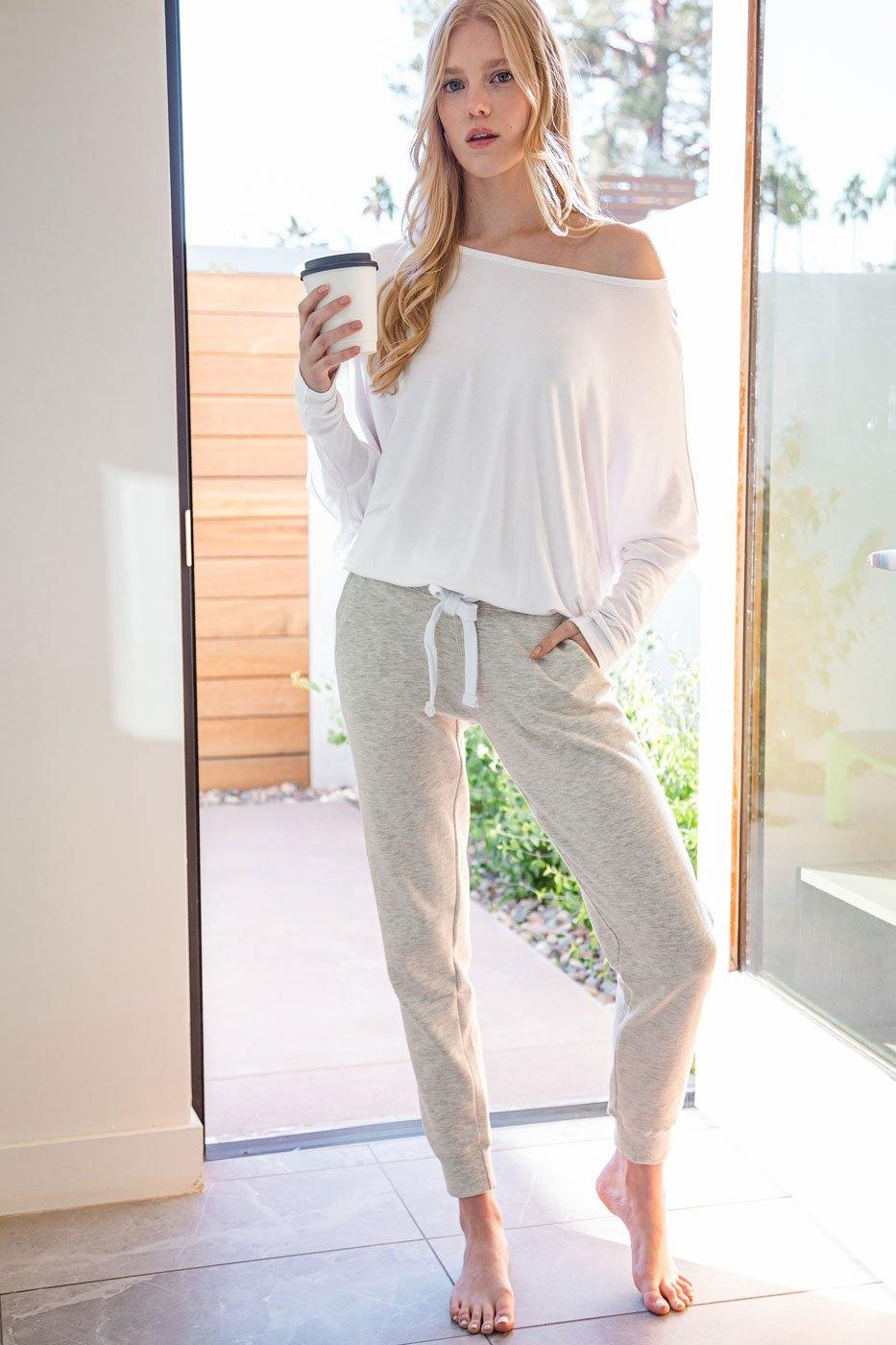 White Loose Oversize Top