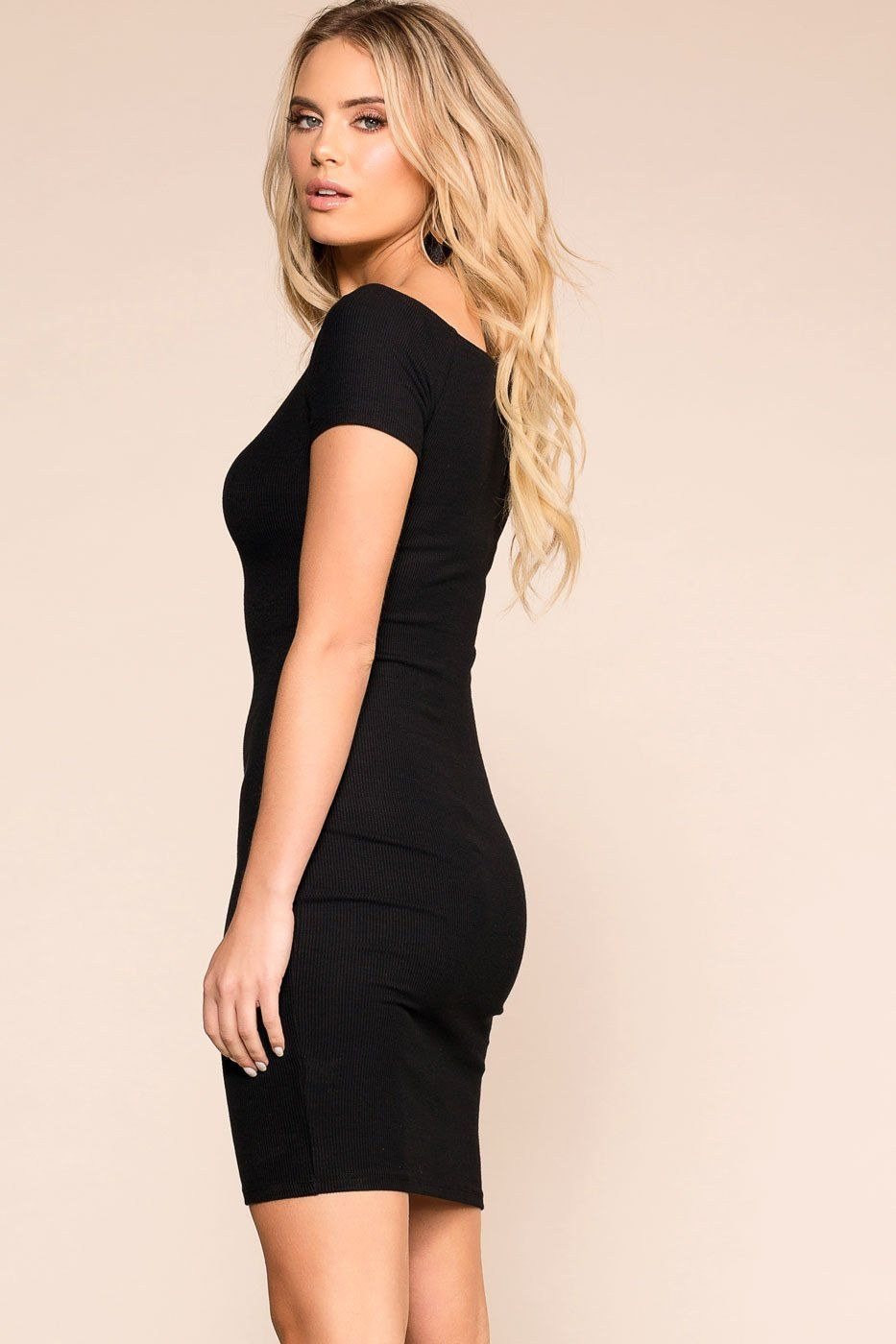 Get It Done Black Buttoned Bodycon Dress | Shop Priceless