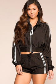 Run The Show Black Track Jacket | Shop Priceless