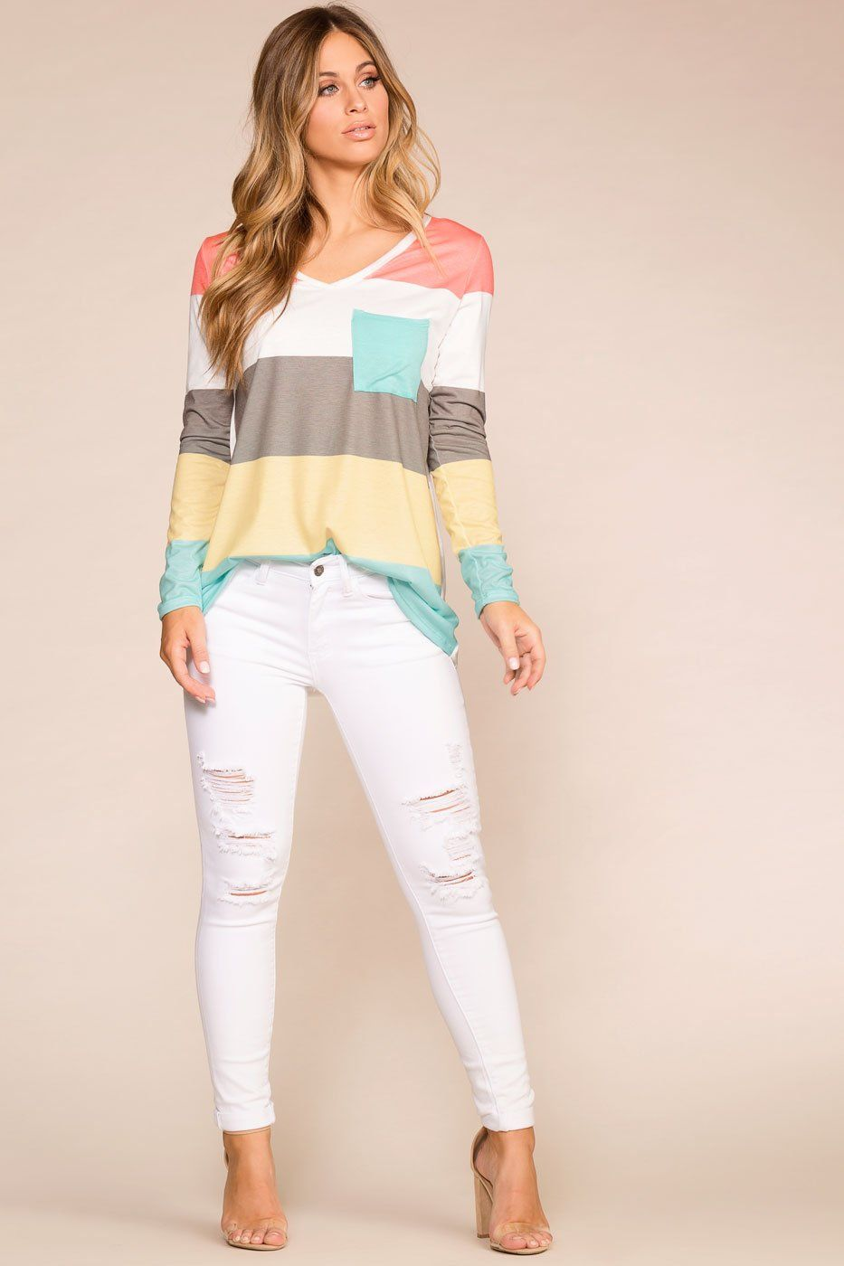 e76d0329d7a Camden White Distressed Skinny Jeans
