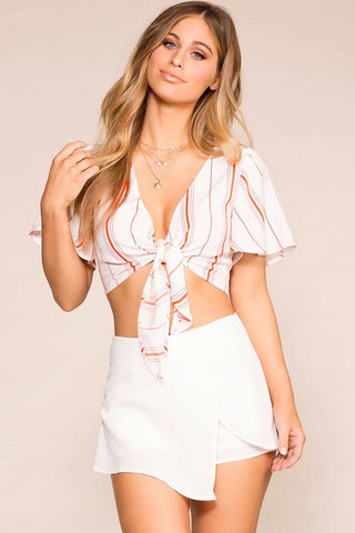 Beneath The Palms Romper - White