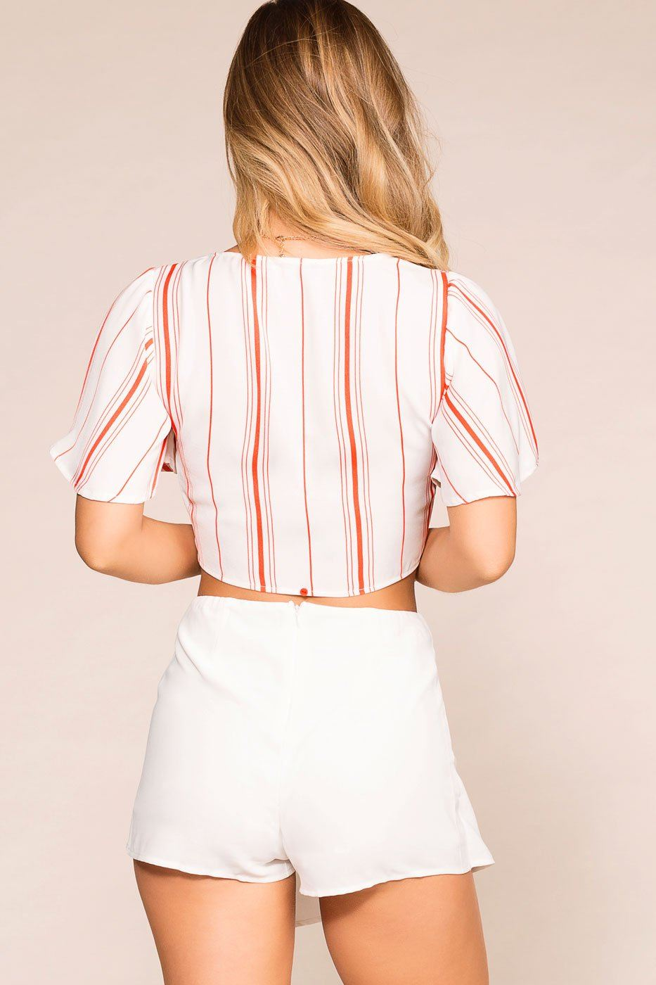 Seeing Double White Envelope Skort | She + Sky