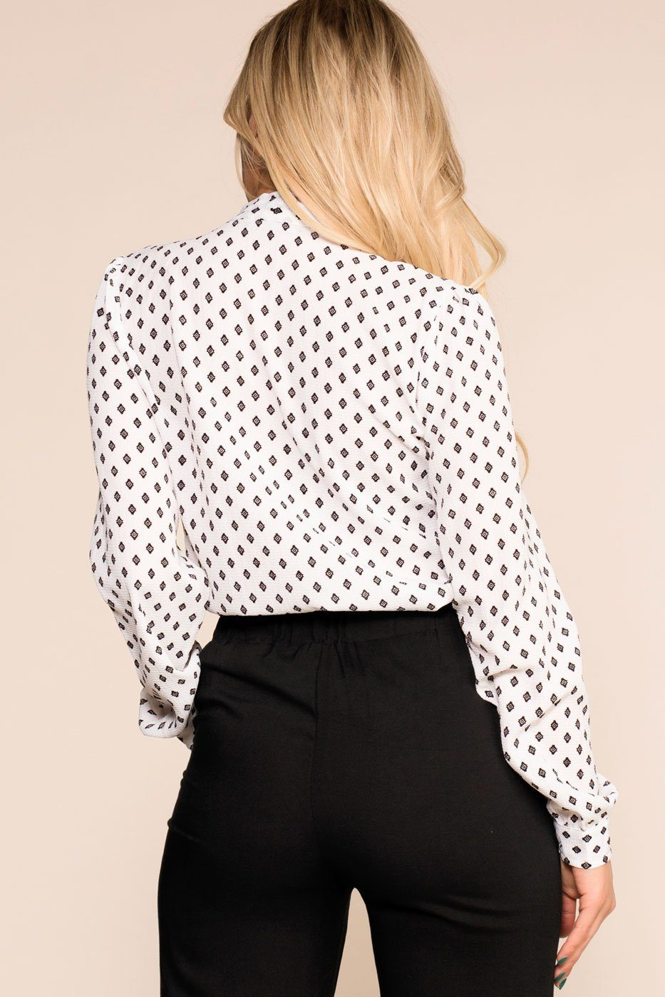 Priceless | White | Patterned Top | Womens