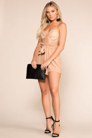 Priceless | Taupe | Romper | Lace | Womens