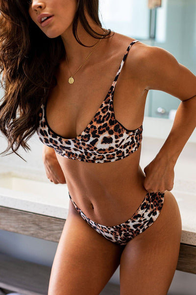 Leopard Swimsuit Top