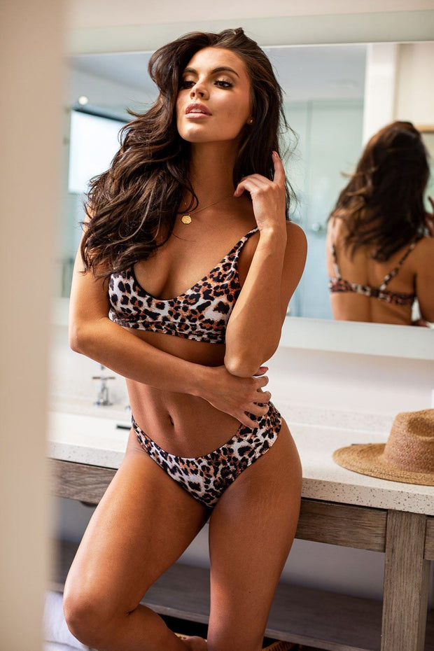 Rogue Leopard Swimsuit Bottoms