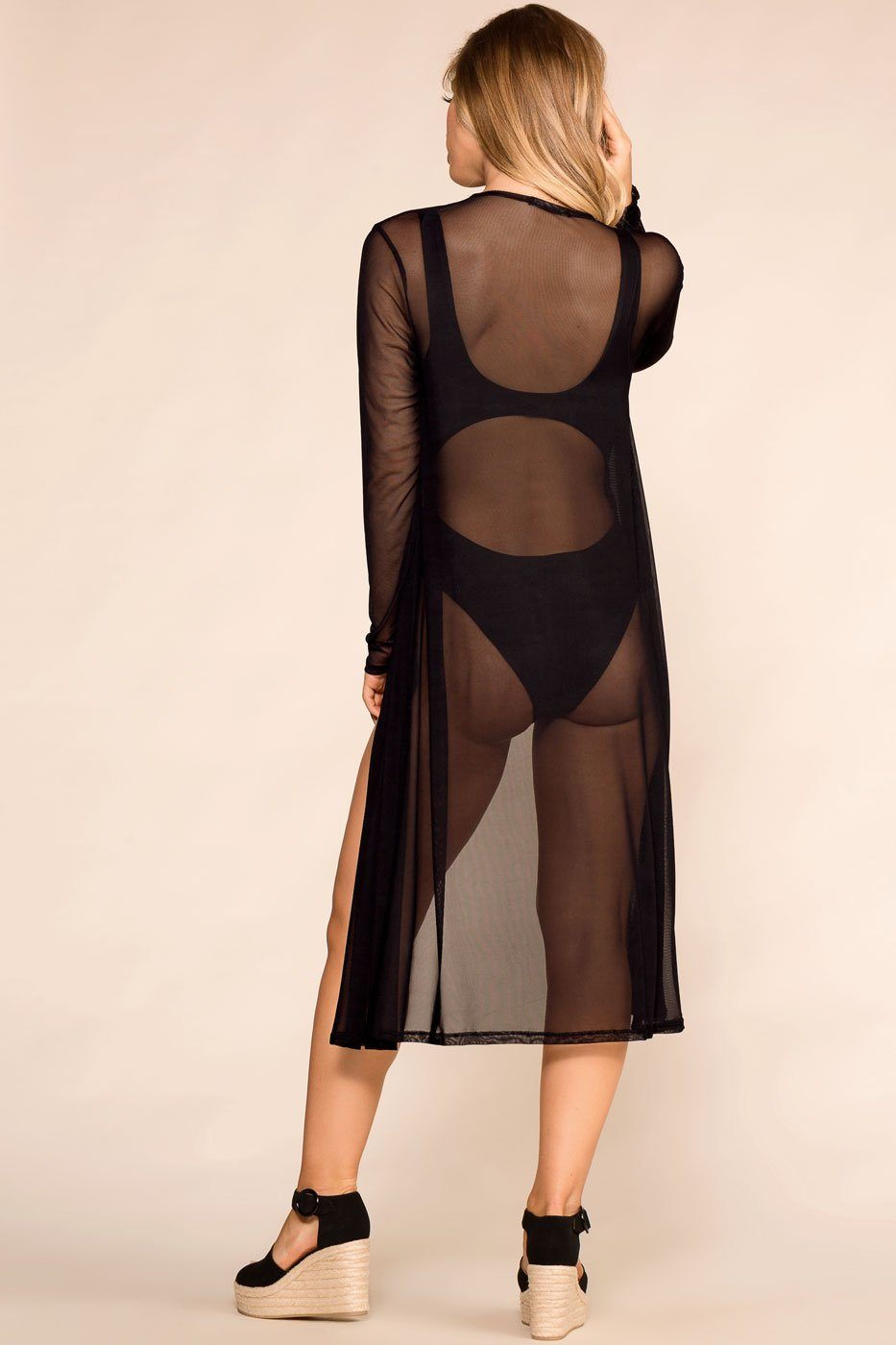 Shop Priceless | Black | Sheer Kimono | Womens
