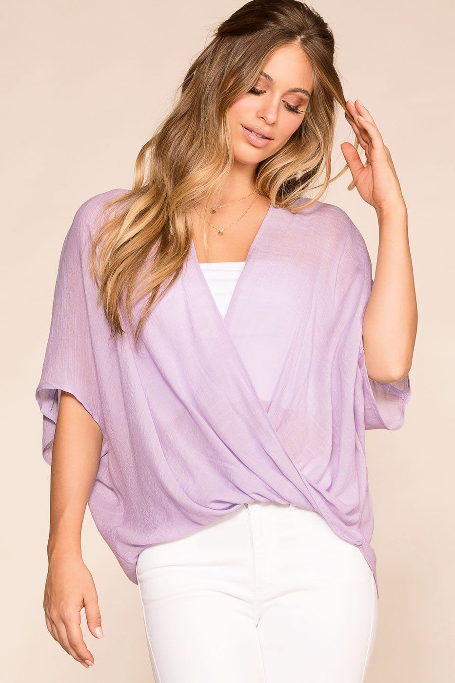 Shop Priceless | Lilac | Wrap Top | Womens