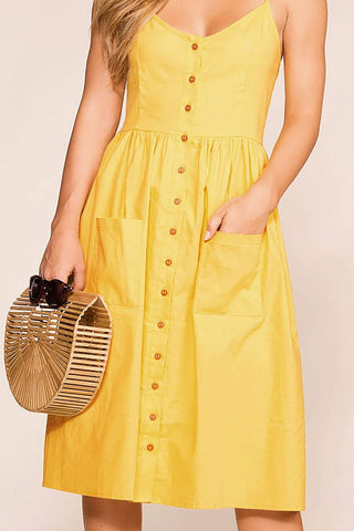 Randi Brick Swing Pocket Dress