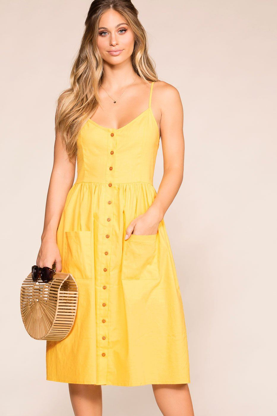 Honey Button Midi Dress