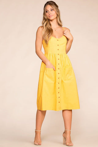 Santa Barbara Stripe Culotte Jumpsuit - Yellow