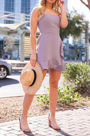 Lavender Tie-Back Dress