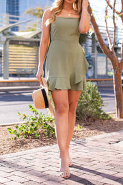 Sage Tie-Back Dress