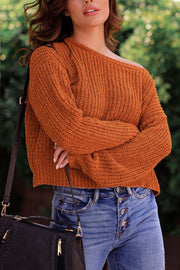 Cinnamon Chenille Knit Sweater