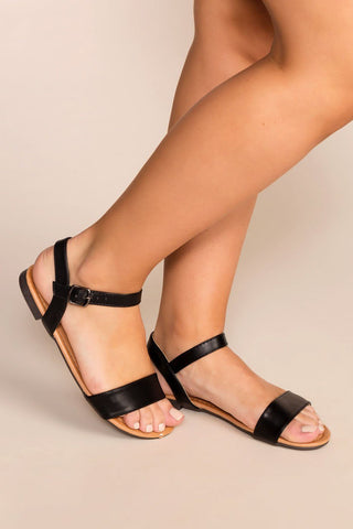 Mira Slip-On Sandals - Black