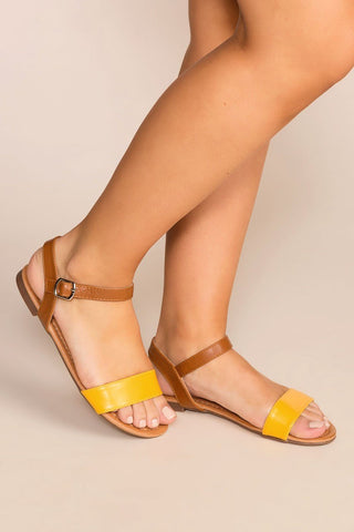 Jilian Low Block Heel Sandals - Tan