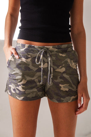 Barefoot Black Denim Paperbag Shorts