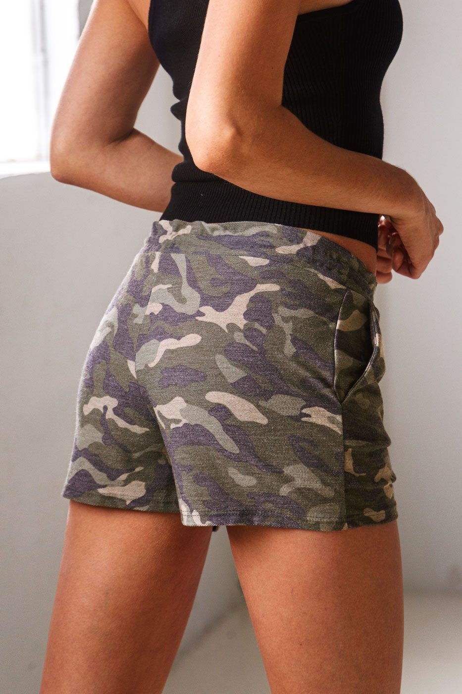 Addison Camo Drawstring Shorts