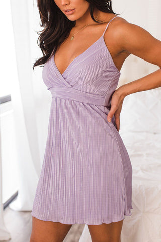 Georgia Heather Grey Ribbed Wrap Dress