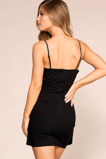 Priceless | Black | Tie-Front Dress | Womens