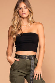 Black Tube Crop Top