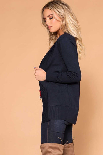 Priceless | Navy Cardigan | Pocket Cardigan | Womens