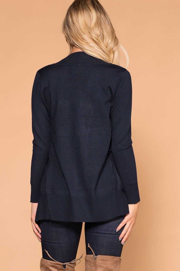 Navy Stretchy and Soft Knit Cardigan