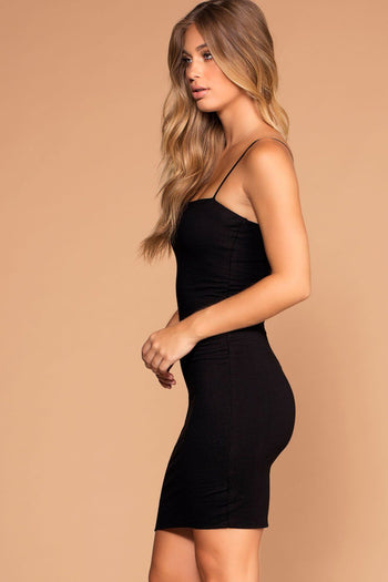 Alisa Black Bodycon Dress