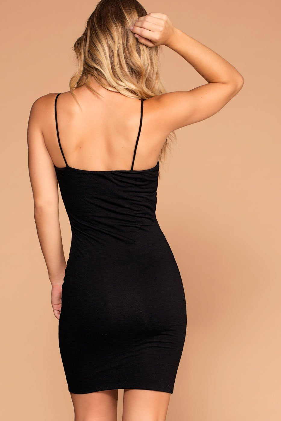 Alisa Black Bodycon Dress | Active Basic