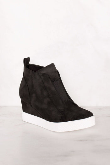 Priceless | Black | Slip On Sneaker | Wedge Sneaker | Shoes