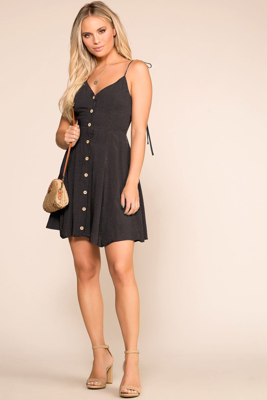 Priceless | Black | Dotted Dress | Womens