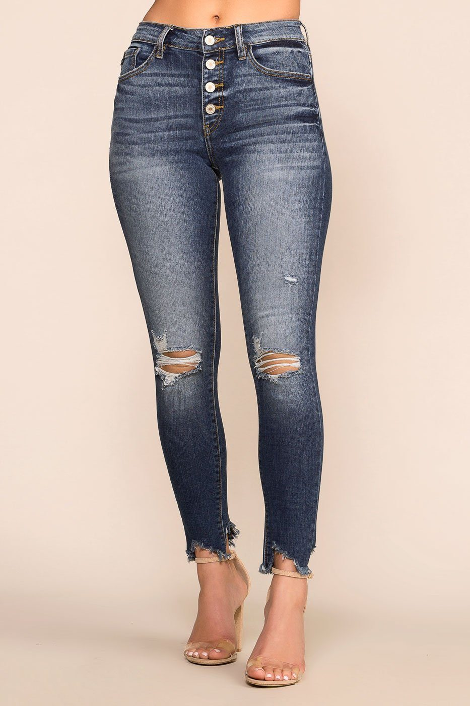 Priceless | Dark Wash | Distressed Jeans | Denim Skinny Jeans | Womens