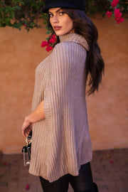 Amity Taupe Knit Turtleneck Top