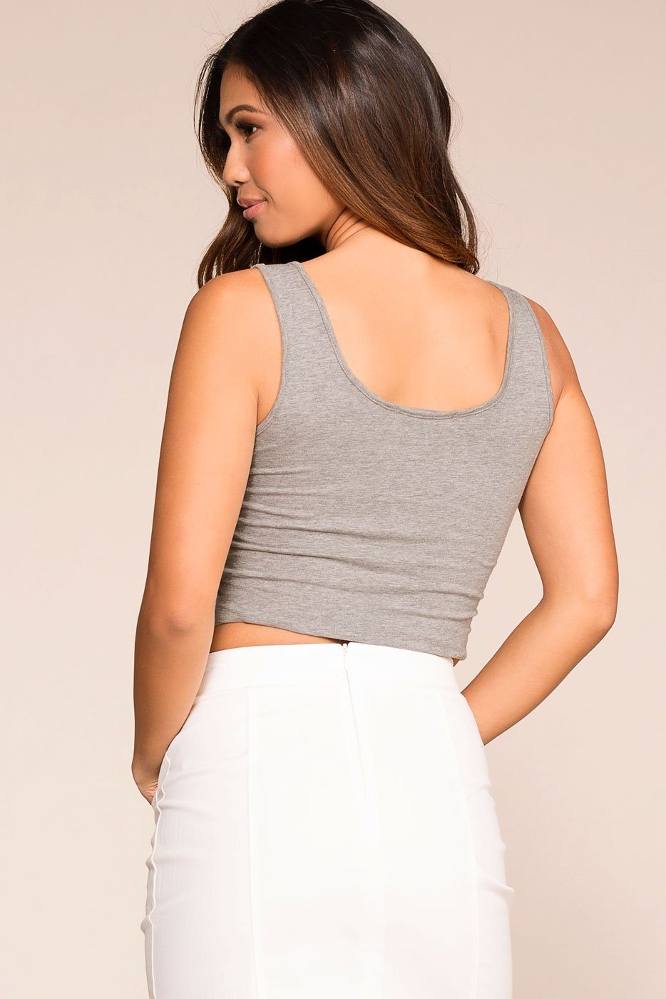 Priceless | Heather Grey | Crop Top | Womens