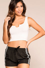 Annie White Crop Top
