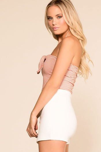Priceless | Blush | Striped | Crop Top | Womens