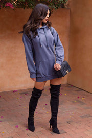 Audra Blue Hoodie Dress