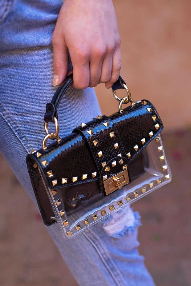 Black Clear Purse