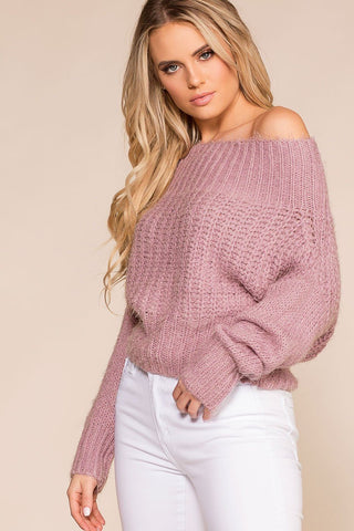 Etta Knit Sweater - Burgundy