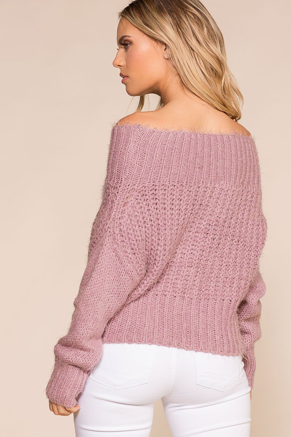 Priceless | Lavender | Off the Shoulder | Knit Sweater | Womens