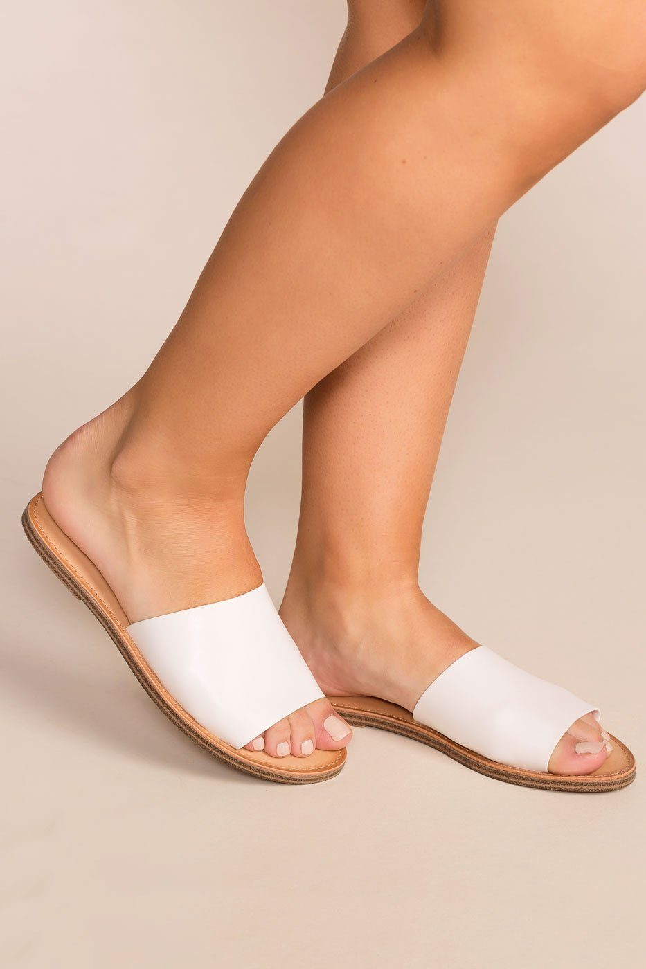 Priceless | White | Slide Sandals | Womens