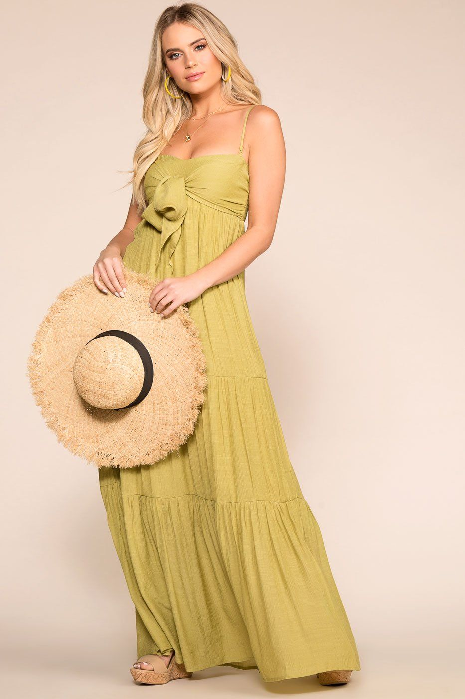 Beachside Sage Maxi Dress | Shop Priceless