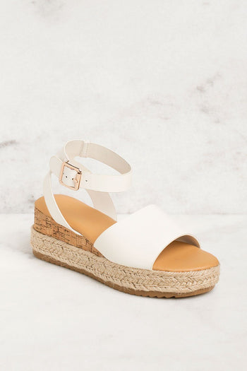 Priceless | White | Platform Sandals | Shoes | Womens