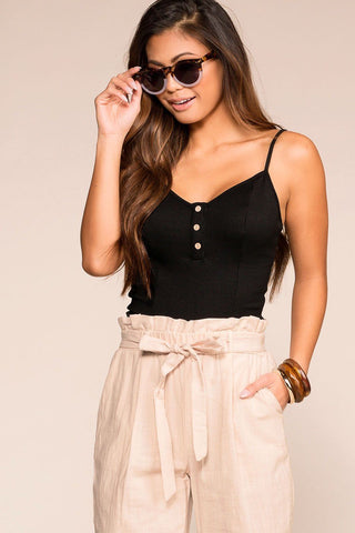 Annie Black Crop Top