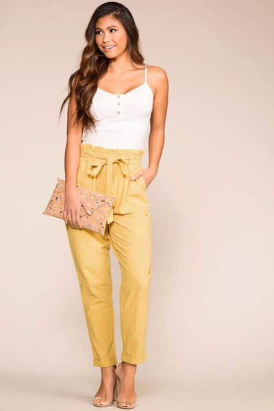 Honey Highwaisted Linen Paperbag Pants