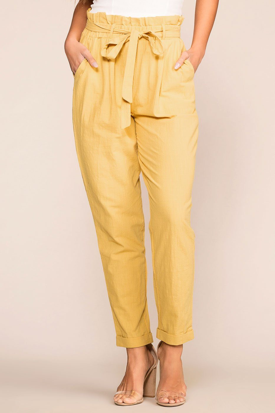 Priceless | Mustard | Paperbag Pants | Highwaisted | Womens