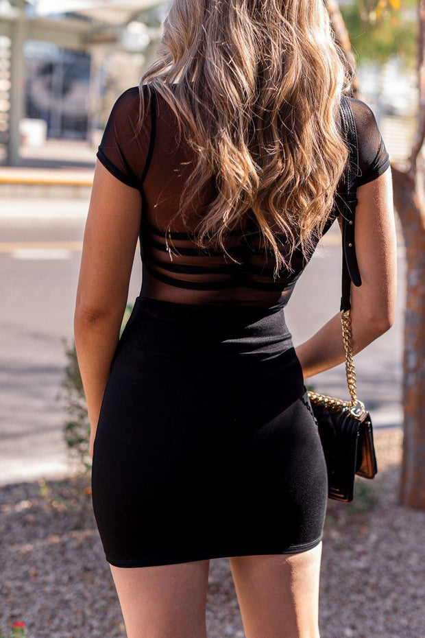 Black Mini Pencil Skirt