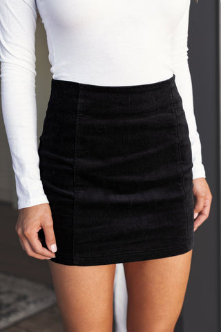 Berkley Green Corduroy Mini Skirt