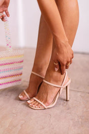 Besos Nude High Heel Sandals